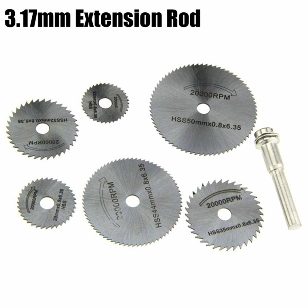7PCS High Quality 22/25/32/35/44/50mm Circular Saw Blade Cutting Disk Rotary Tool Wood Working HSS Material Disk цена