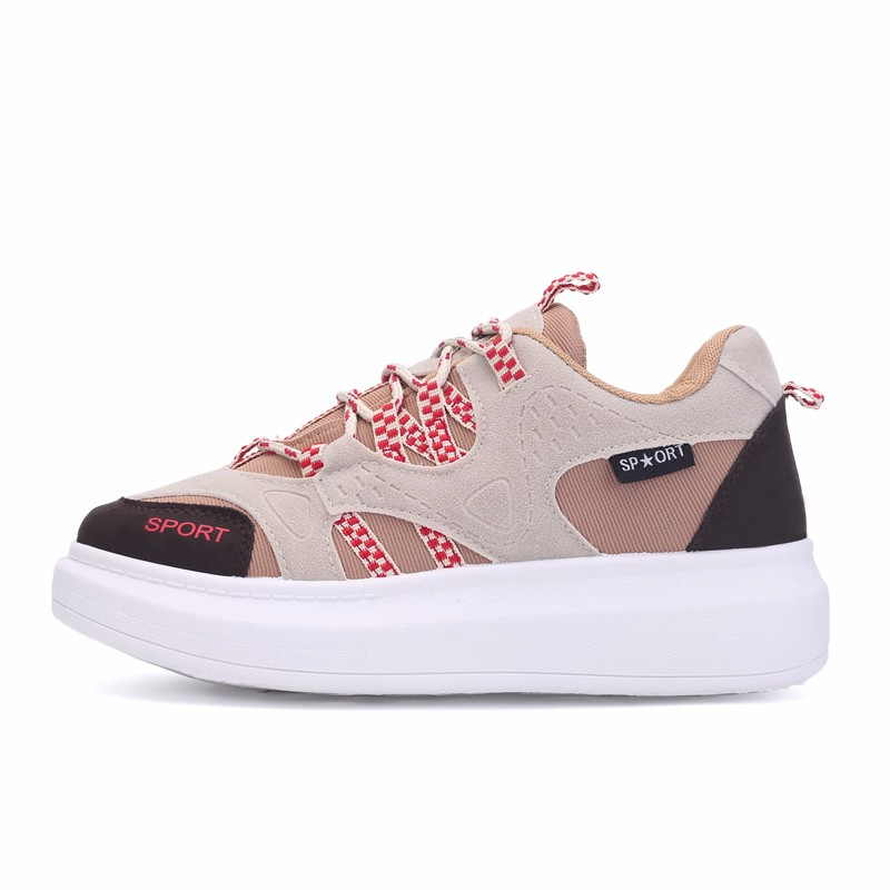 KUYUPP 2016 Autumn Fashion Women Flat Platform Shoes Sport Casual Shoes For Mens Trainers Lace Up Low Top Shoes Breathable YD111 (46)