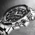 Heren Horloge Grote Wijzerplaat Militaire LUIK Chronograph Top Merk Luxe Mode Mannen Waterdichte Sport Quartz Horloge Relogio Masculin