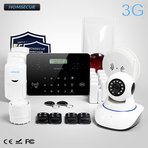 HOMSECUR Wireless 3G/GSM/PSTN RFID SMS Autodial Burglar Pet-Immune/Friendly Alarm System  LC03-3GHOMSECUR Wireless 3G/GSM/PSTN RFID SMS Autodial Burglar Pet-Immune/Friendly Alarm System  LC03-3G