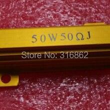 Светодиодный нагрузочный резистор RX24 50 Вт 50R 50OHM 10 шт./лот ватт Мощность металлический корпус проволочный резистор