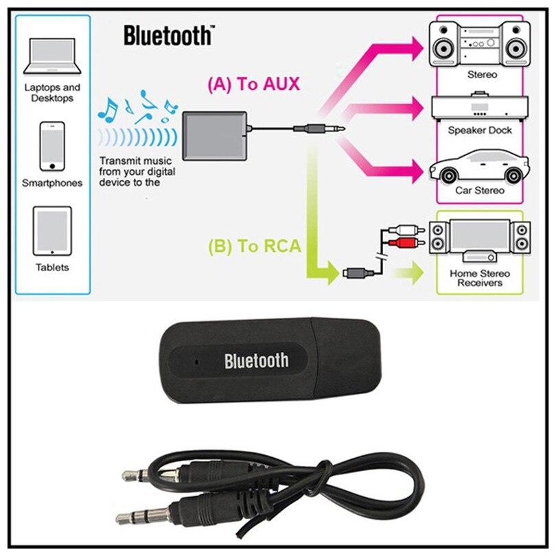 USB Bluetooth Audio Music Receiver 3.5mm Wireless Bluetooth 2.1 + EDR USB AUX Audio Music Receiver Adapter #F30NT08 (5)