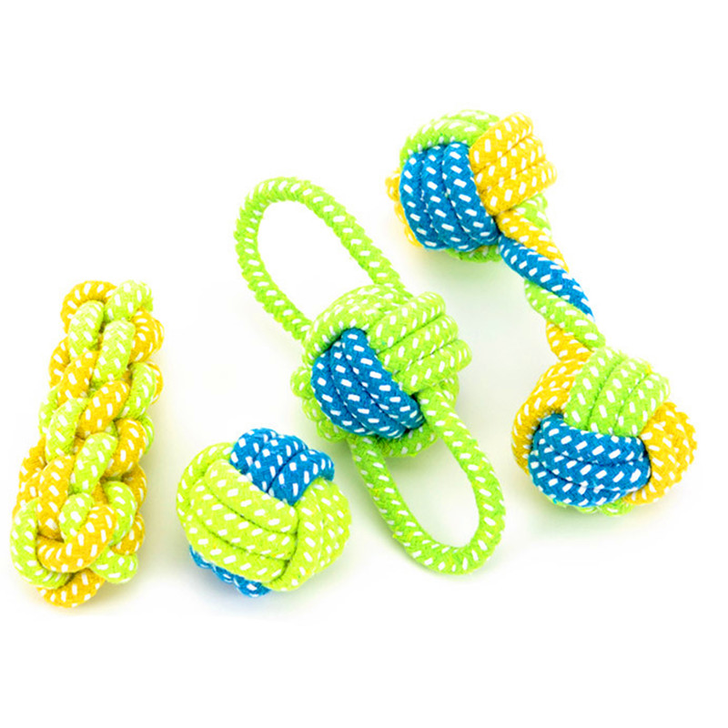 Pet dog toys durable bite resistant spot knot dog toy for small and large dogs training chew toys ball teeth cleaning for pet ...