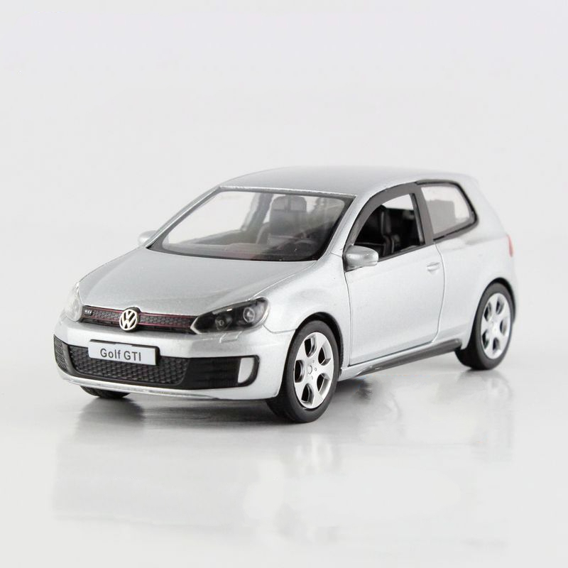 Freeshipping Children Volkswagen Golf GTI Model Car 1:36 5inch Diecast Metal Cars Toy Pull Back Kids Gift