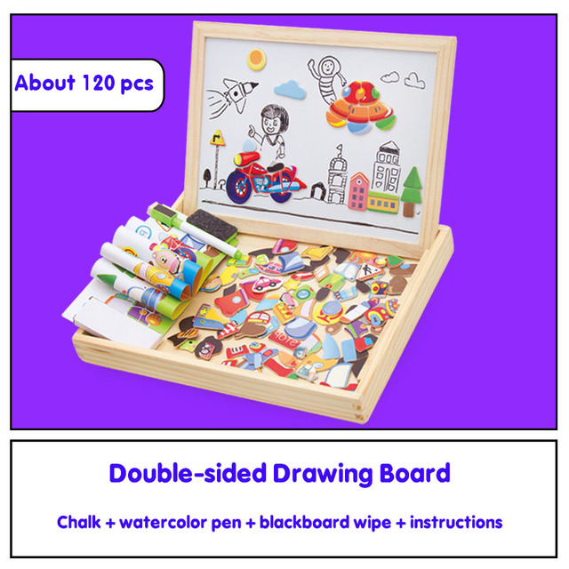 Wooden Magnetic Puzzle Board