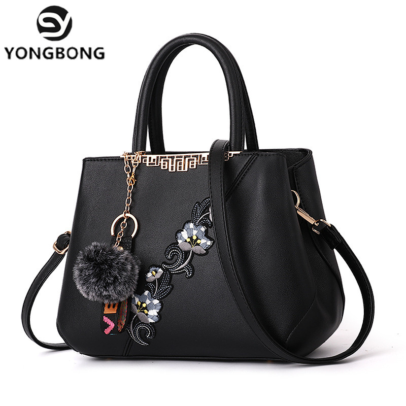 YONGBONG 2018 color flowers shell Women s tote Leather Clutch Bag Ladies Handbags Brand Women Messenger
