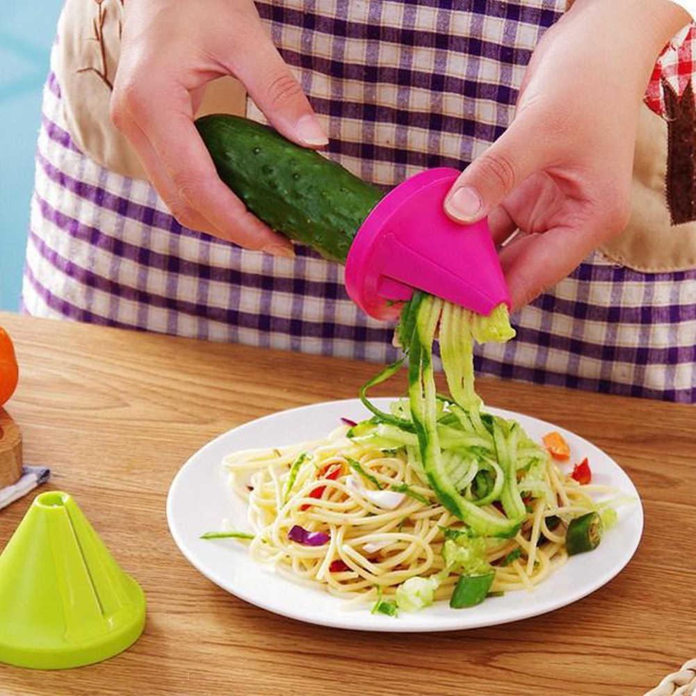 أداة قمع نموذج لولبية القطاعة الجزرة الفجل القاطع الخضار أجاد جهاز الطبخ سلطة أدوات مطبخ اكسسوارات