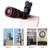 2017 lentes de Cámara Del Teléfono 12in1 Kit 12X Teleobjetivo Zoom Lentes de Ancho ángulo de ojo de pez lente macro para el teléfono celular iphone 7 trípode clips