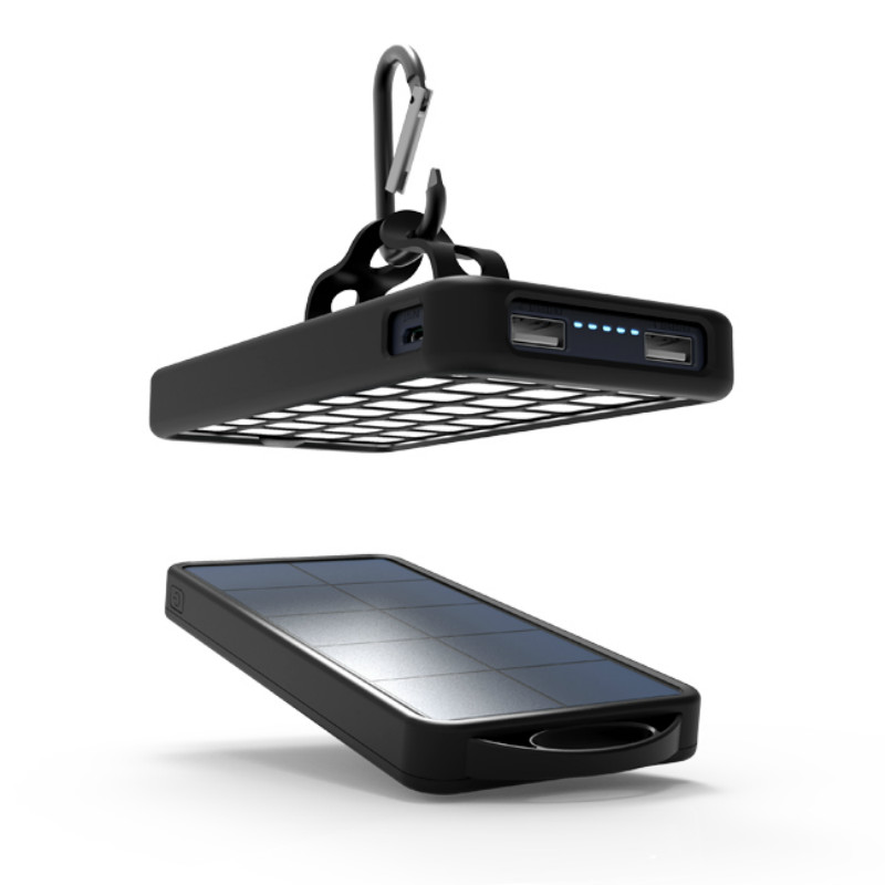 <font><b>Solar</b></font> Power Bank Dual USB Power Bank <font><b>8000mAh</b></font> Waterproof Battery <font><b>Charger</b></font> External Portable <font><b>Solar</b></font> Panel with 32 LED Light outdoor
