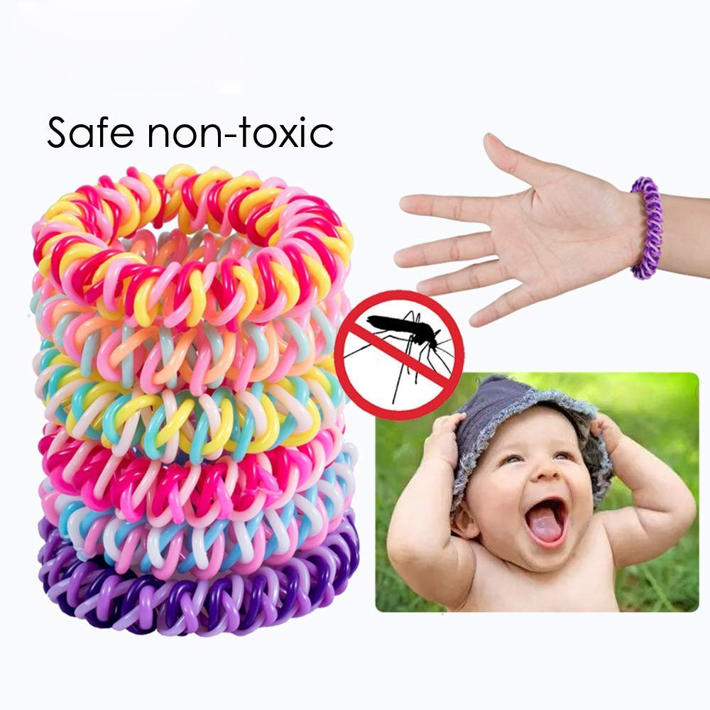 6/12pcs Anti Mosquito Repellent Bracelet Pest Reject Bug Repellent Wristband Insect Killer Protection Outdoor Adults Kids(China)