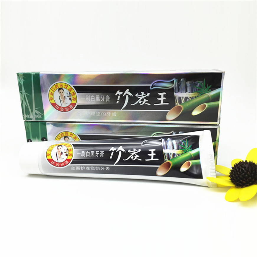 2017 A# 105g Health Care Bamboo Charcoal All-purpose Teeth Whitening The Black Toothpaste 1PCS 3