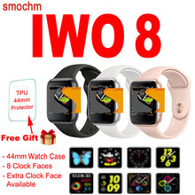 Smochm 44 MM IWO 8 smart Watch Bluetooth Smartwatch sport moda zegarek kwarcowy tętno krokomierz 1 1 do zegarka Apple Watch Series z systemem Android tanie tanio Hiszpański Francuski Niemiecki Rosyjski Indonezyjski Angielski Portugalski Włoski Polski Hebrajski Kalendarz Stały Kalendarz