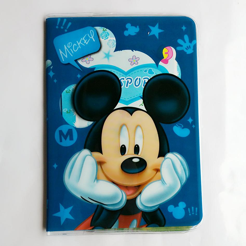 "Wholesale Fashion Mickey And Minnie Passport Holder PU Leather Passport Cover Passport Package Travel Card Holder Bag 5.5*3.78""(China)"