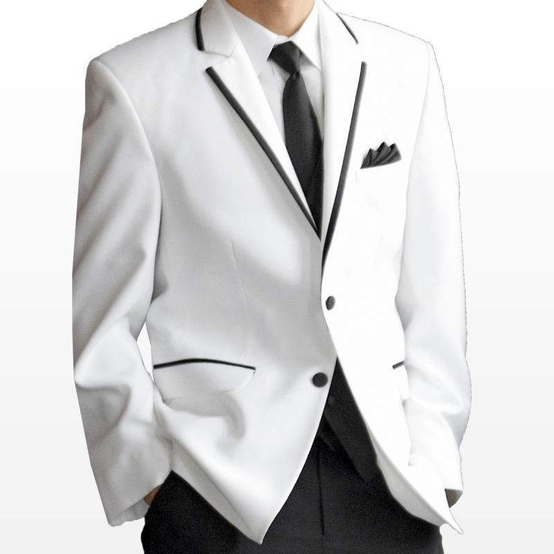 Popular Mens White Suit Jacket with Black Trim-Buy Cheap Mens ...