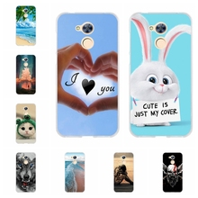 For Huawei Honor 6A Phone Cover Soft Silicone DLI-TL20 Protective Case Love Patterned Funda Bag
