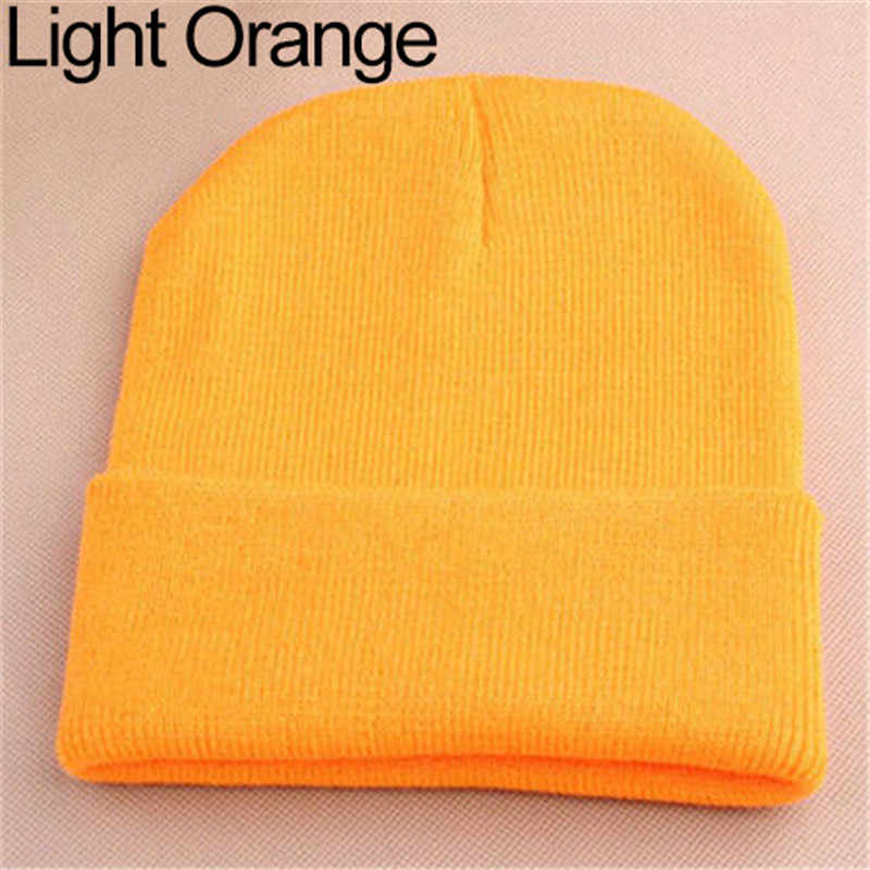 Fashion Men Women Beanie Knit Ski Cap Hip-Hop Winter Warm Elastic Wool Yarn Cuff Hat For Men Women