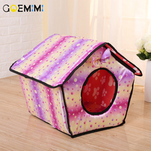 New Arrival Pet Cat Cave House Colorful Foldable Puppy Sleeping  Bed Top Quality cama para gato Dog