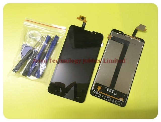 Novaphopat Tested Alpha R Digitizer Panel Replacement Parts For Highscreen Alpha R Touch + LCD Display Screen Assembly +tracking