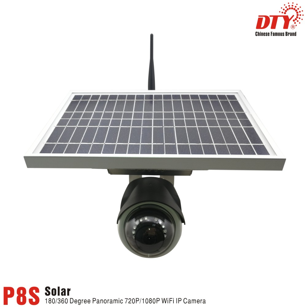 DTY 1080p H.264 IR-CUT Night Vision WIFI IP Camera Built In <font><b>Battery</b></font> with 12W <font><b>Sola</b></font> panel 4000mAh <font><b>battery</b></font>, P8S-12W image