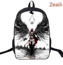 16 Zoll assassins Creed Nylon Kinder Rucksack Für Jugendliche Kinder Schultaschen Jungen Assassins Creed Rucksäcke Täglichen Tasche