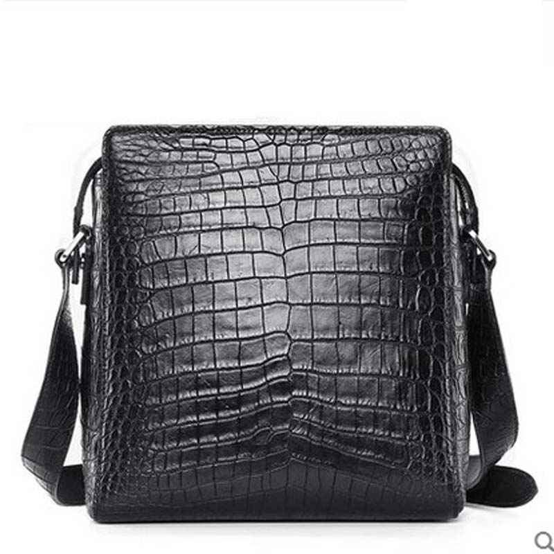 hlt crocodile skin men's bag American luxury real crocodile leather man handbag thailand belly casual single shoulder men bag yuanyu 2018 new hot free shipping real python skin snake skin color women handbag elegant color serpentine fashion leather bag