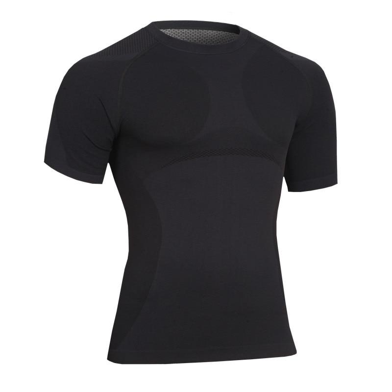 새로운 도착 남성 T 셔츠 피트니스 빠른 건조 운동복 크로스 피트 압축 탄성 여름 탑 슬림 피트 남성 T 셔츠