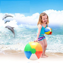 1Pcs 20CM Rainbow-Color Inflatable Beach Ball Kid's Water Birthday New Year Christmas Halloween Gift Toy special christmas gift sma 20 20cm diy not ready made metal toy for human body skeleton ideal toy for dad and son together 20cm