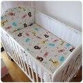 Promoção! 5 pcs malha baby bedding set de algodão conjuntos de cama de bebê crib bumper bebê arround bumper, incluem (4 amortecedores + ficha)