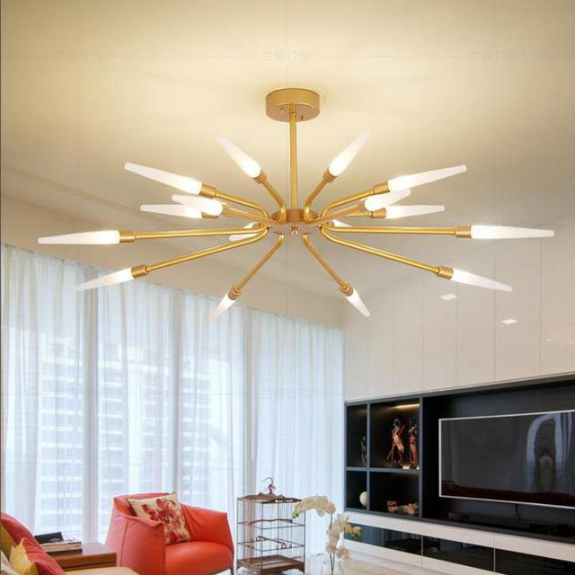 Home 12/16 Pcs Gold Led Light Ceiling Fixtures Living Room Bedroom Art Deco  Surface