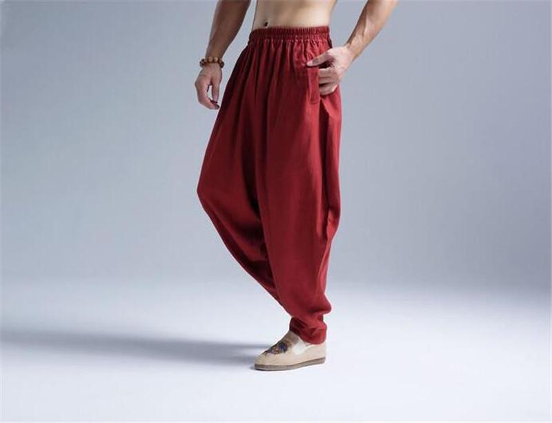 Pantalon Shenzhen rouge vue 3/4