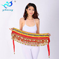 2016 new 248 credits diamond belly dance Indian dance waist chain  dance practice Sling Belt  9 colors one size