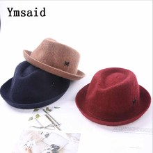 Childrens Wool Jazz Hat Autumn and Winter New Boy Girl Retro Baby Engl