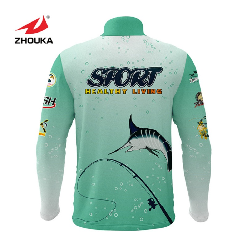 Image 2 - Marshal Customized Men Fishing Jerseys T Shirts Sublimation Printing Name Number Breathable Fishing Shirt Camisa Para Pesca-in Fishing Clothings from Sports & Entertainment