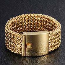 New Fashion 316 Stainless Steel Link Chain Bracelets High Polished Silver Or Gold Mesh Bracelet Men's Wholesale Jewelry high polished 6 number spring chain bracelet