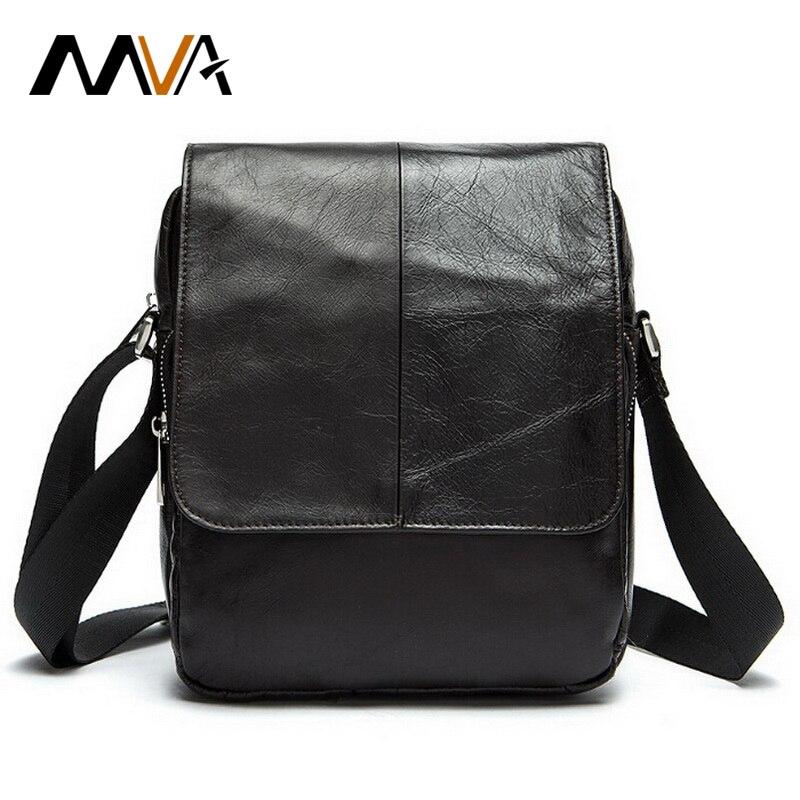 Aliexpress.com : Buy MVA Genuine Leather Men Bags Fashion ...