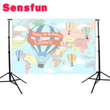 Sensfun personnaliser nouveau-né ballon chaud Photo décors Studio photographie fond 7x5ft(China)