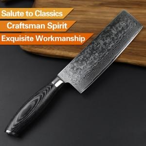 Image 5 - Xinzuo 6.8 inch inch polegadas nakiri facas de cozinha 67 camada japonês vg10 damasco faca de aço chef cozinheiro faca de corte pakka punho de madeira