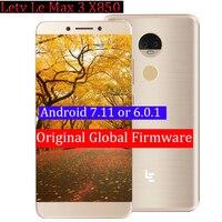 Original Letv LeEco RAM 6G ROM 64G le Max3 X850 FDD 4G Cell Phone 5.7 Inch Snapdragon 821 16MP 2 camera pk le max2 X820 model