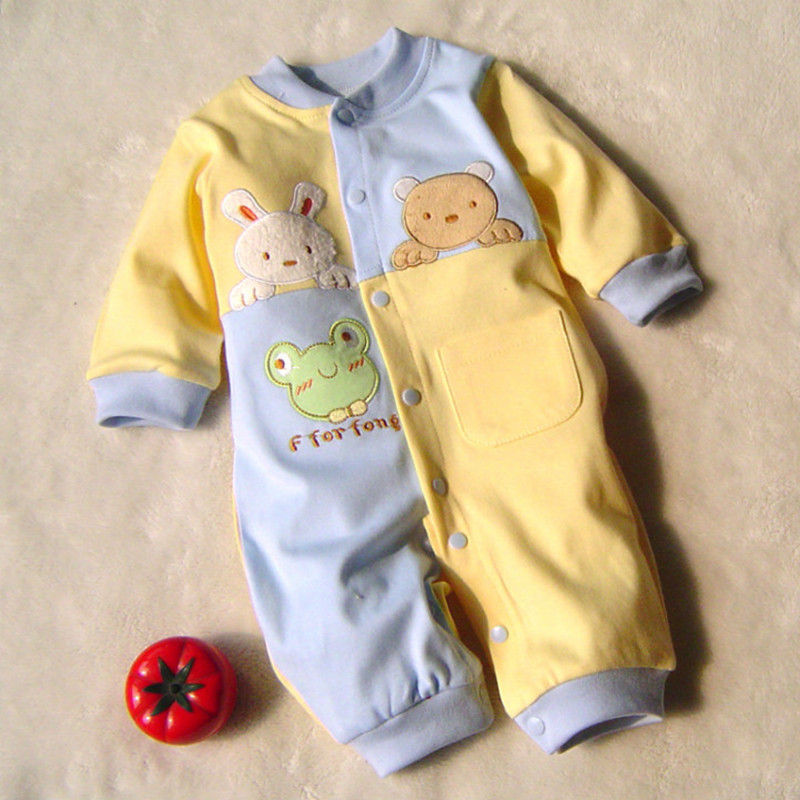 2016 newborn baby boy winter clothes100% Cotton Long Sleeve Baby Rompers Soft Infant Baby girl Clothing Set Jumpsuits