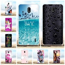 For Nokia 1 Plus Back Cover Ultra Slim Soft TPU Silicone For Nokia 1 Plus Case Flowers Patterned For Nokia 1 Plus Shell Bumper все цены