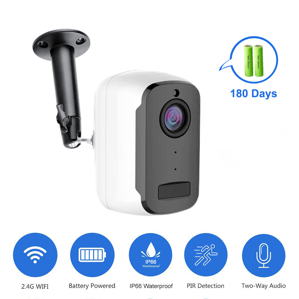 1080P WIFI Camera Outdoor Rechargeable Battery Powered 2MP Wireless IP Camera Security PIR Waterproof 110 Wide View Angle Tosee-in Surveillance Cameras from Security & Protection
