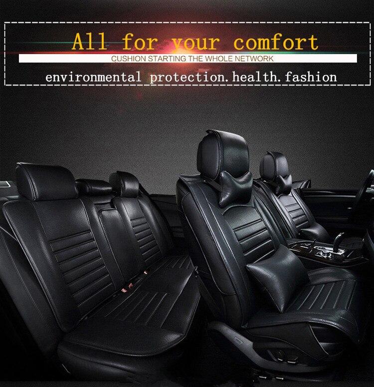 Авто Чехлы для мангала Универсальный Fit автомобильные чехлы на сиденья Искусственная кожа сидений автомобиля и поддерживает подушки подде