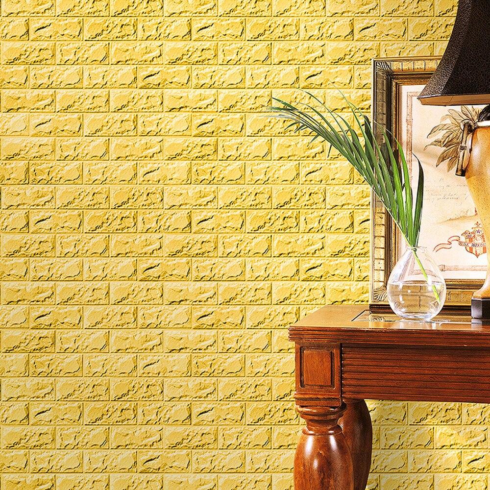 Tile Stickers PE Foam 3D Wallpaper DIY Wall Stickers Wall Decor ...
