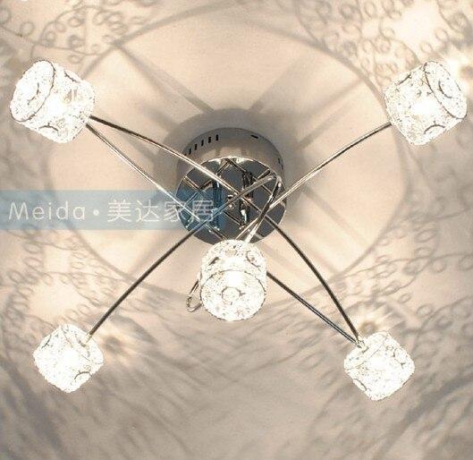 Moderne Schlafzimmer Deckenleuchte Kristall Aluminium Lampenschirm Kleines Wohnzimmer Chrom Poliert Arbeitszimmer