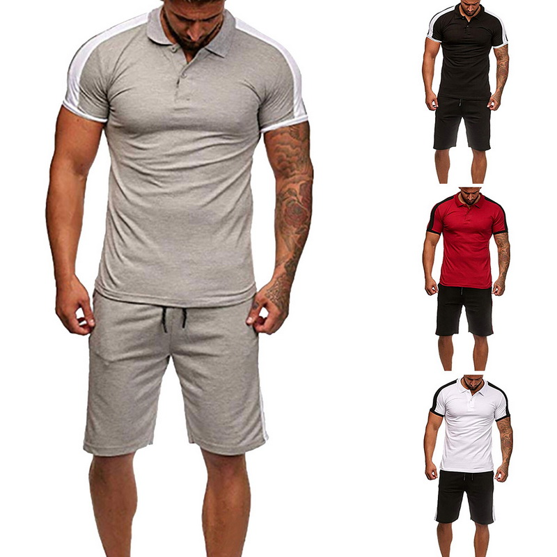 c244b5780 23 Summer Hot Sale Men's Sets T Shirts+pants Two Pieces Sets Casual  Tracksuit Male Tshirt Gyms Fitness trouser