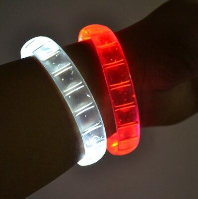 Free shipping 2pcs/lot Custom LOGO led bangle flashing Multi color wristband blinking bracelets for party supplies
