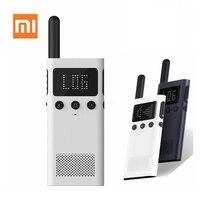 Xiaomi Mijia 스마트 워키 토키 1S FM 라디오 스피커 대기 스마트 폰 APP 위치 공유 빠른 팀 토크 업데이트 버전