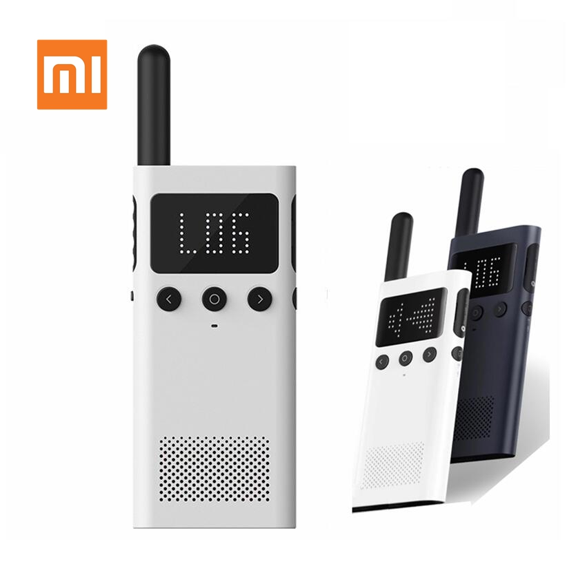 Xiaomi Mijia Smart Walkie Talkie 1S With FM Radio Speaker Standby Smart Phone APP Location Share Fast Team Talk Update Version