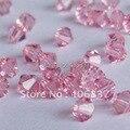 Бесплатная доставка! AAA Качество 720 шт./лот светильник Роза 4 мм #5301 Кристалл Биконусы бусины - фото