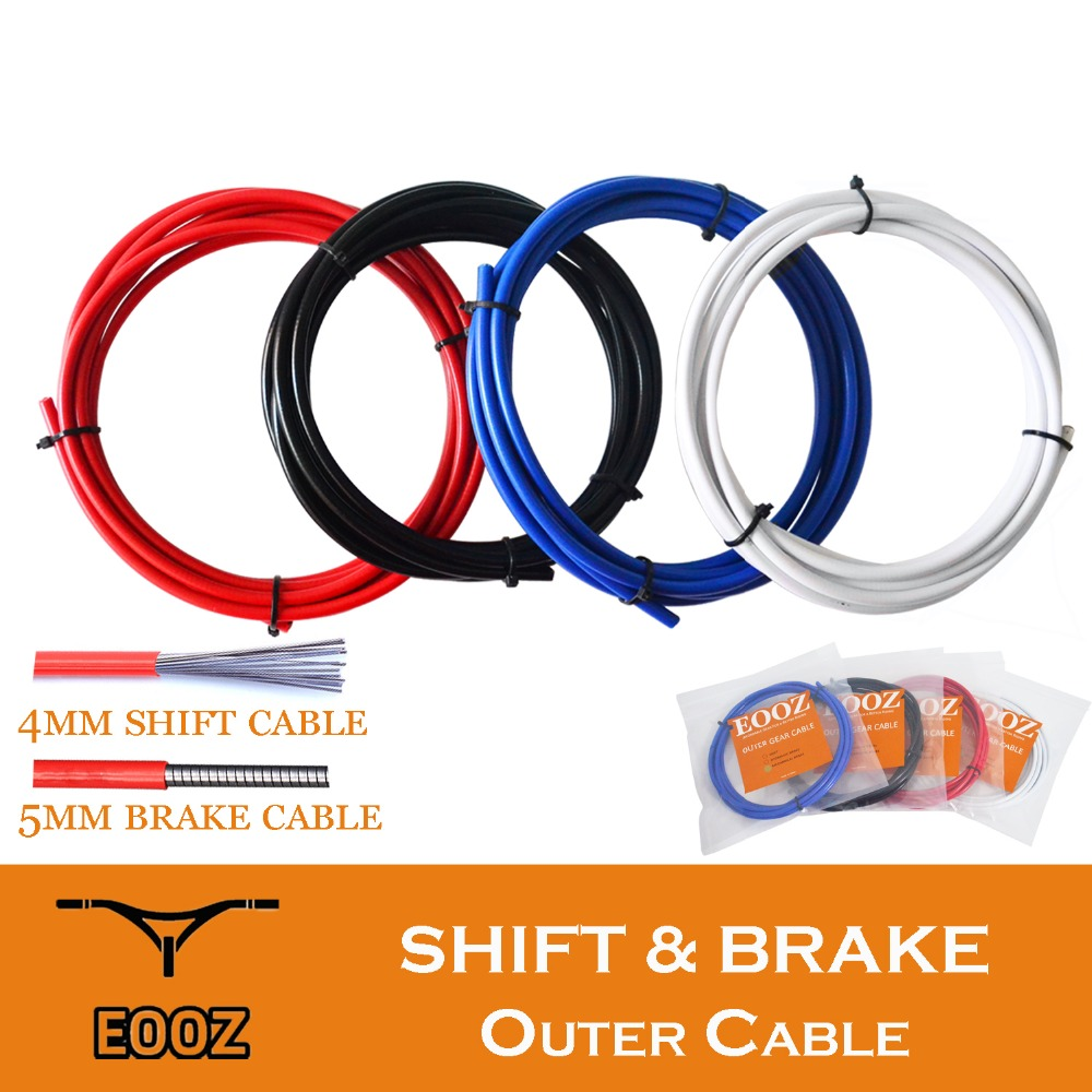 Bike Bicycle Complete Front /& Rear Wire Gear Brake Cable Set Gear Kit Housing JV